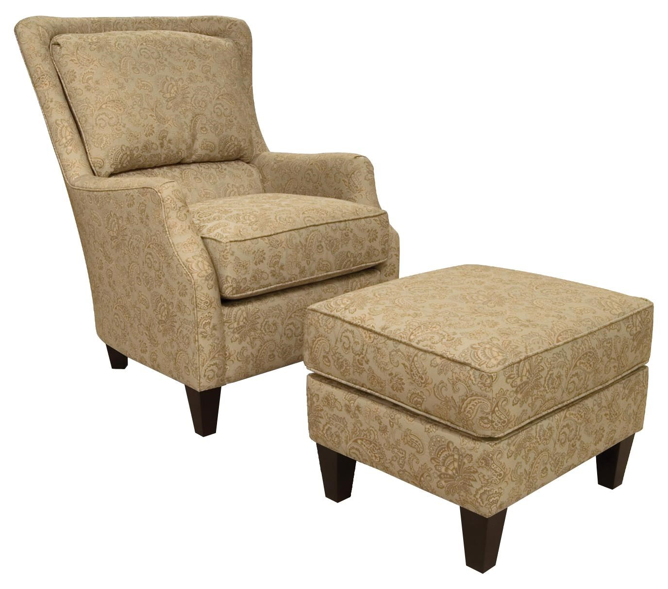 England Loren Transitional Styled Accent Chair And Ottoman