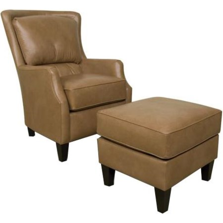Upholstered Club Chair and Ottoman