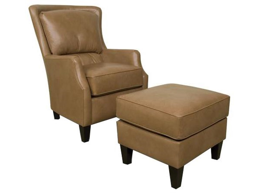 England LouisUpholstered Club Chair and Ottoman