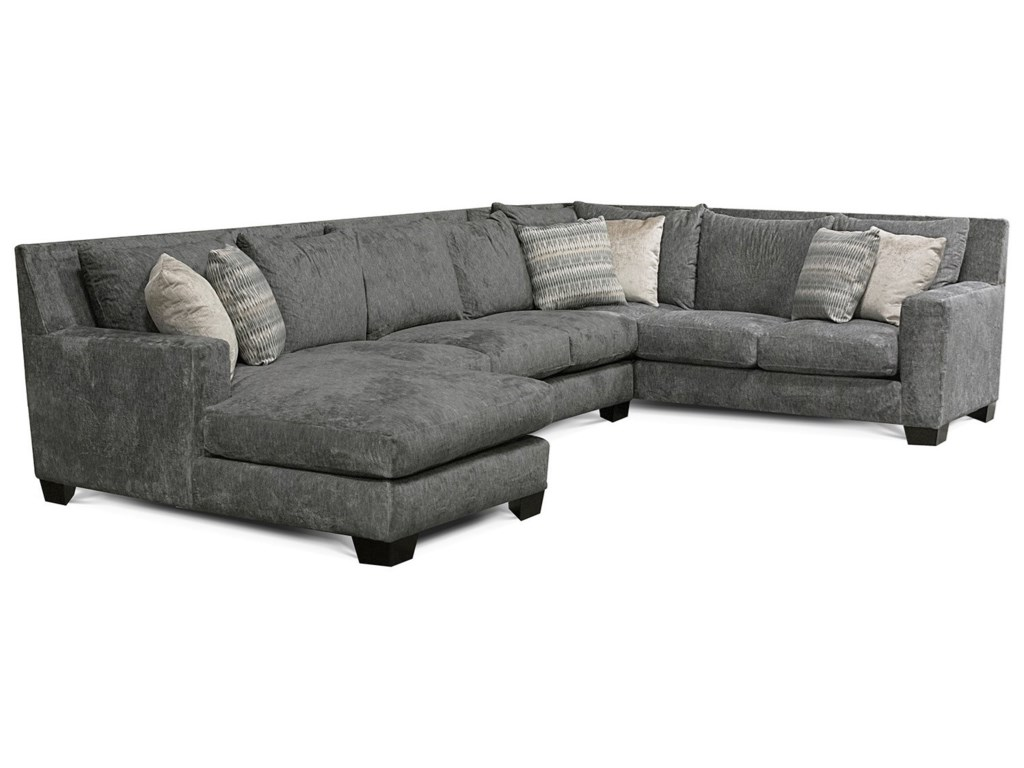 England Luckenbach Contemporary Sectional Sofa with Chaise ...