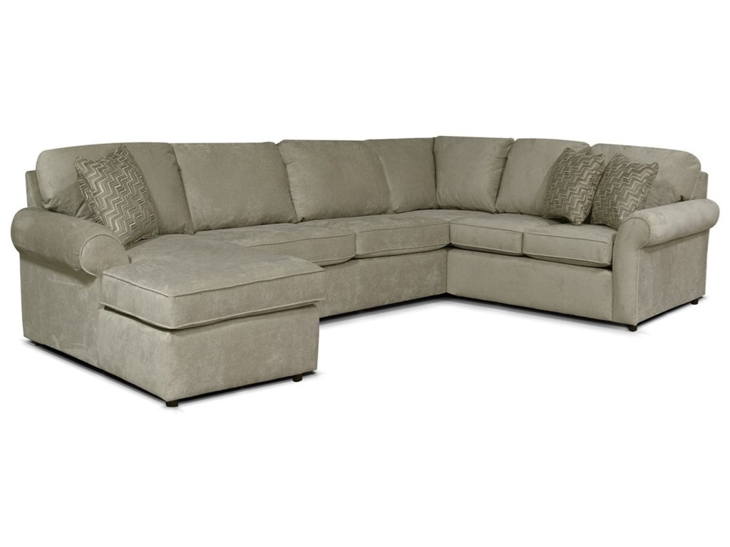 England Moondust5-6 Seat (left side) Chaise Sectional