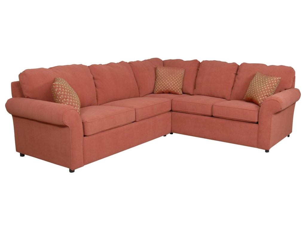 Malibu 4-5 Seat Corner Sectional Sofa by England at Prime Brothers Furniture