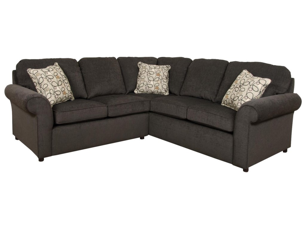 Malibu 4-5 Seat Corner Sectional Sofa by England at Dunk & Bright Furniture
