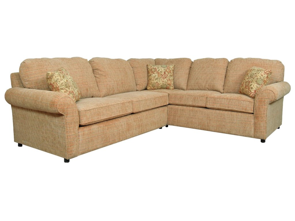 Malibu 4-5 Seat Corner Sectional with Sleeper by England at Prime Brothers  Furniture