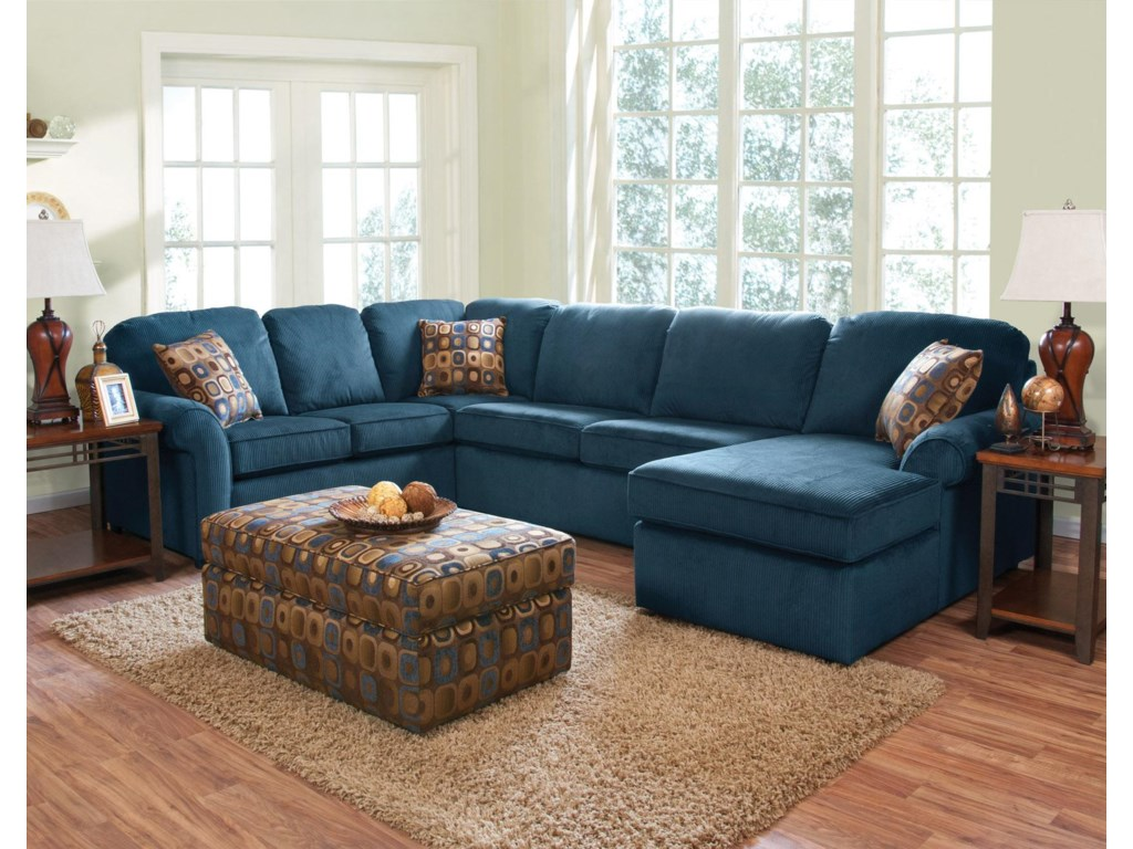 England Malibu5-6 Seat (right side) Chaise Sectional
