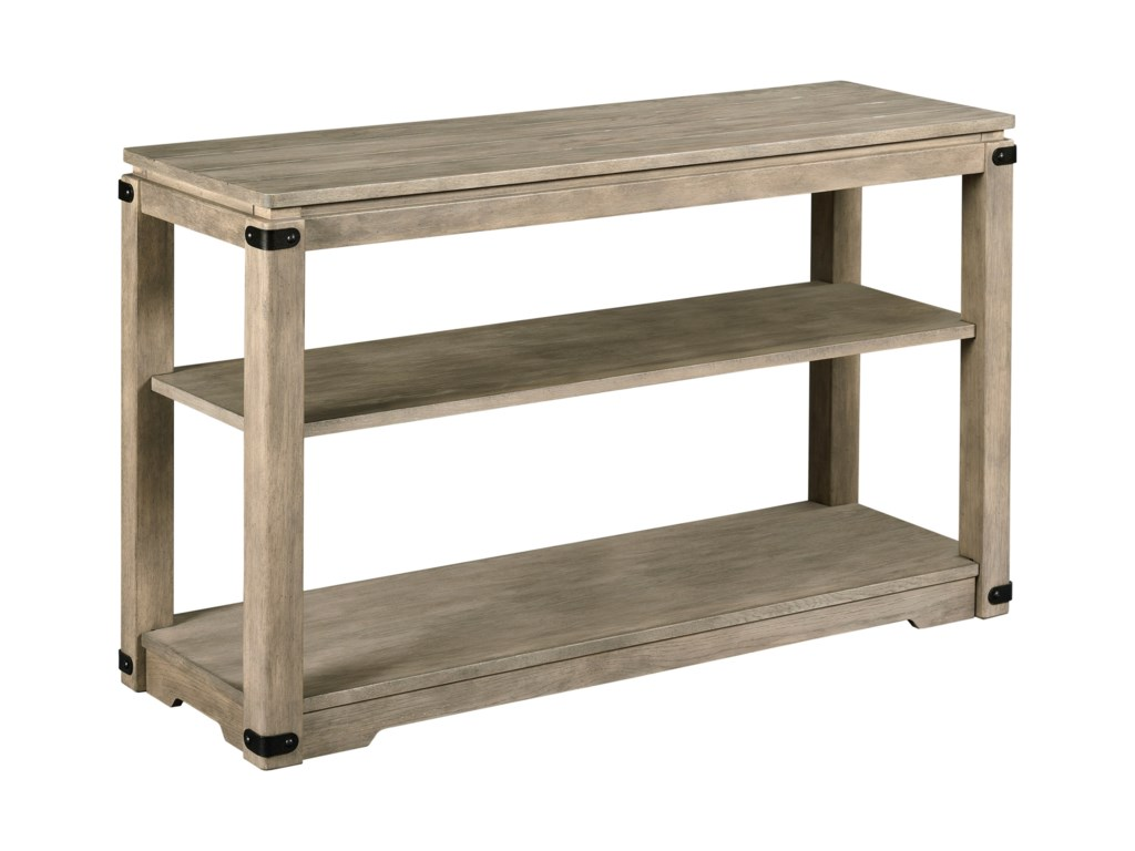 Marin Rustic Sofa Table with Metal Accents by England at Pilgrim Furniture  City