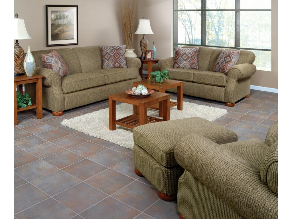 Shown in Living Room Setting with Matching Sofa and Ottoman