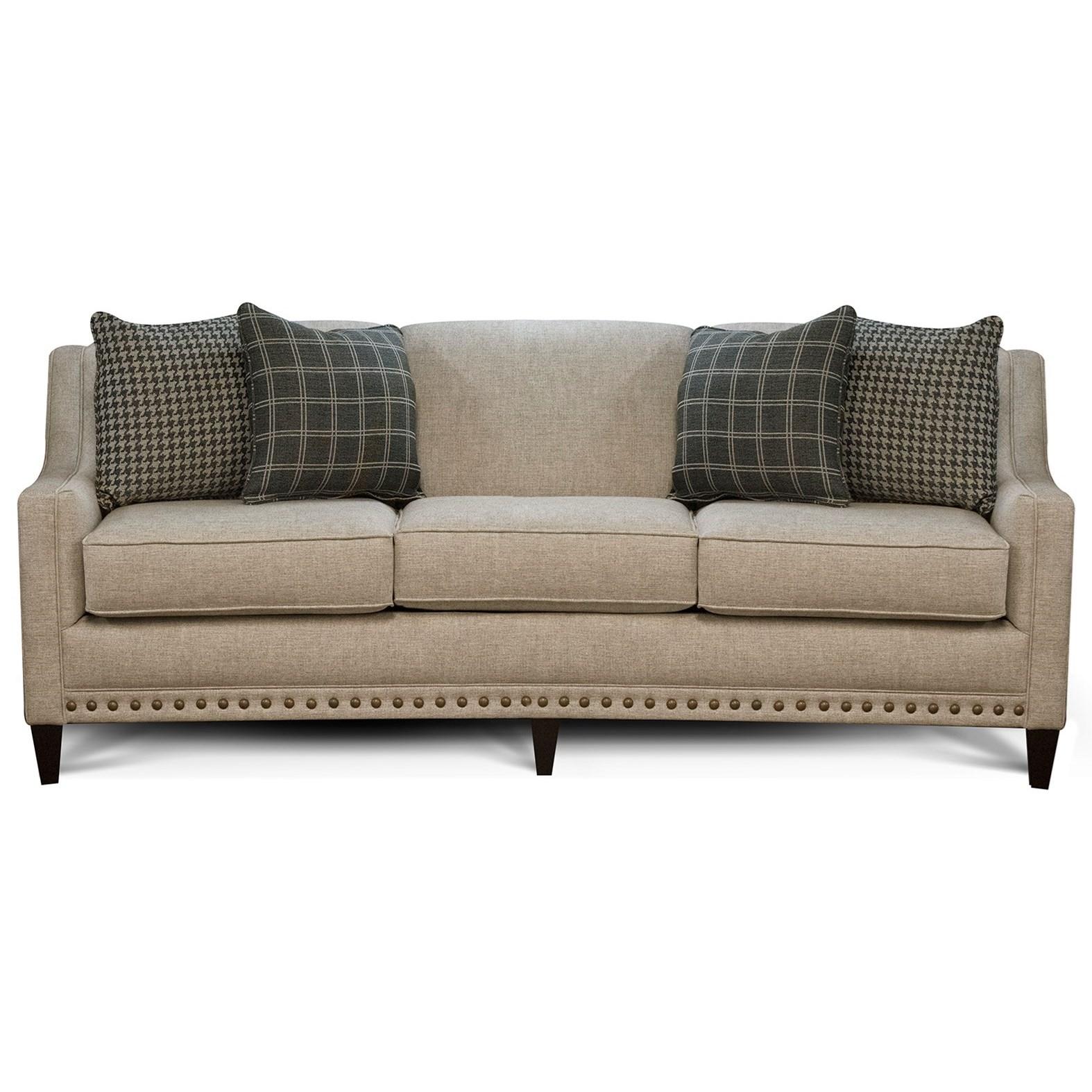 England Meredith Transitional Sofa With Nailhead Trim