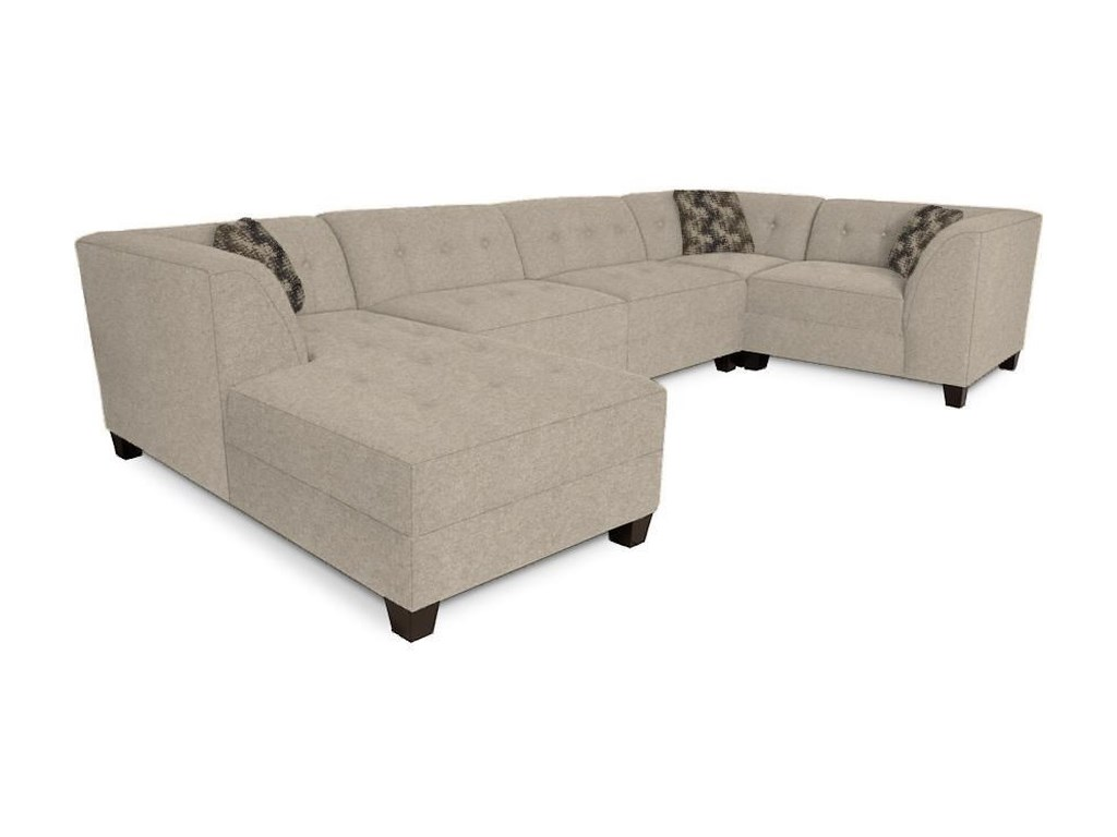England Miller Sectional Sofa with 4-5 Seats | Dunk & Bright ...