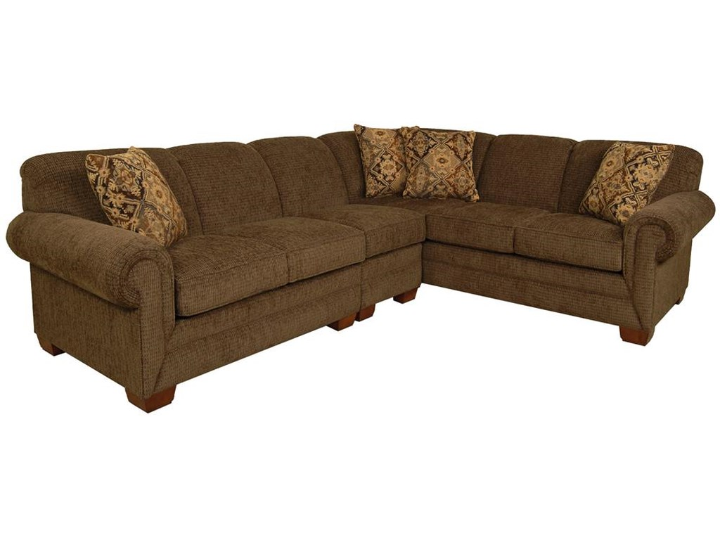 Monroe 3 Piece Sectional with LAF Sofa by England at Rooms and Rest