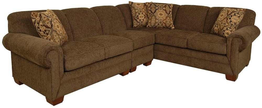 England Monroe 3 Piece Sectional With LAF Sofa