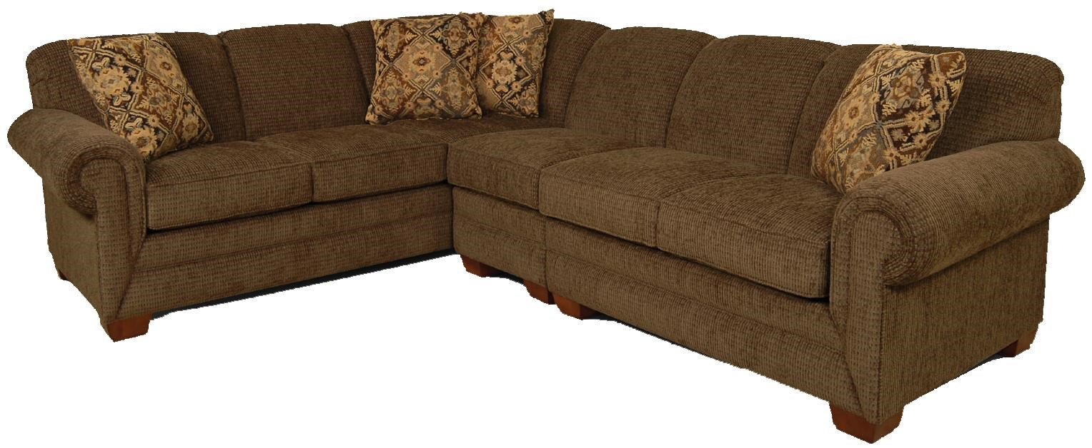 England Monroe 3 Piece Sectional Sofa With Laf Loveseat