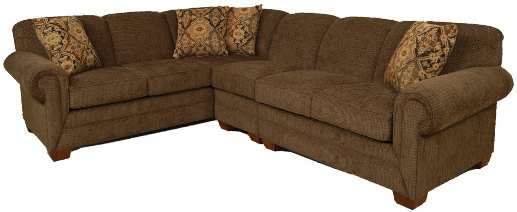 England Monroe 3 Piece Sectional Sofa With Laf Loveseat Jordans