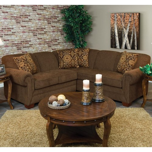 England Monroe 2 Piece Sectional Sofa with LAF Loveseat