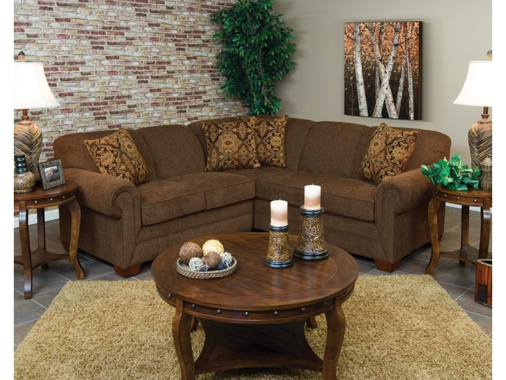 England Monroe2pc LAF Loveseat Sectional