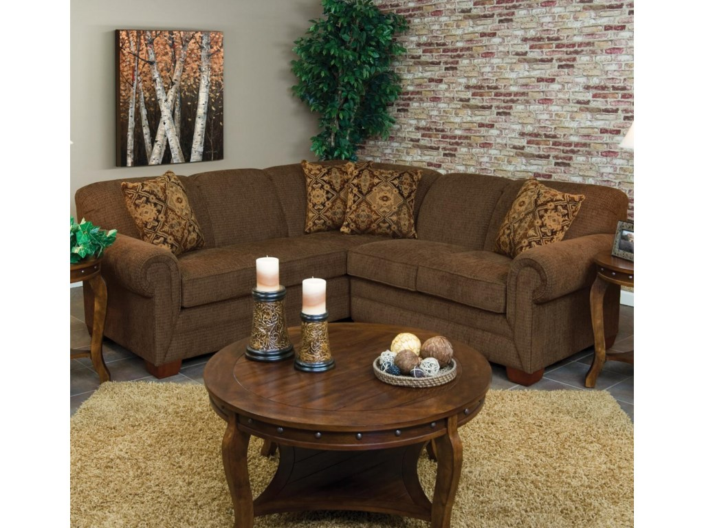 Monroe 2 Piece Sofa Sectional by England at Dunk & Bright Furniture