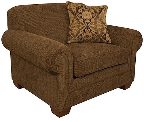 England Monroe Traditional Upholstered Chair & a Half
