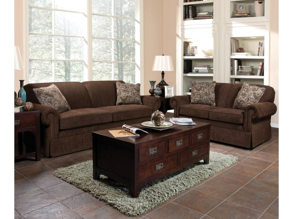 Shown in Room Setting with Loveseat