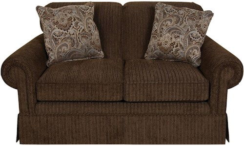 England Nancy Classic Upholstered Loveseat Glider