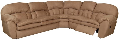 England Oakland 3 Piece Reclining Sectional Sofa with Sleeper