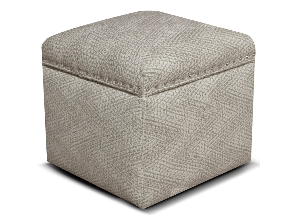 England ParsonStorage Ottoman with Nailhead Trim