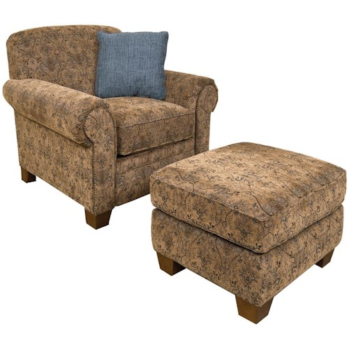 England Philip Casual Chair and Ottoman