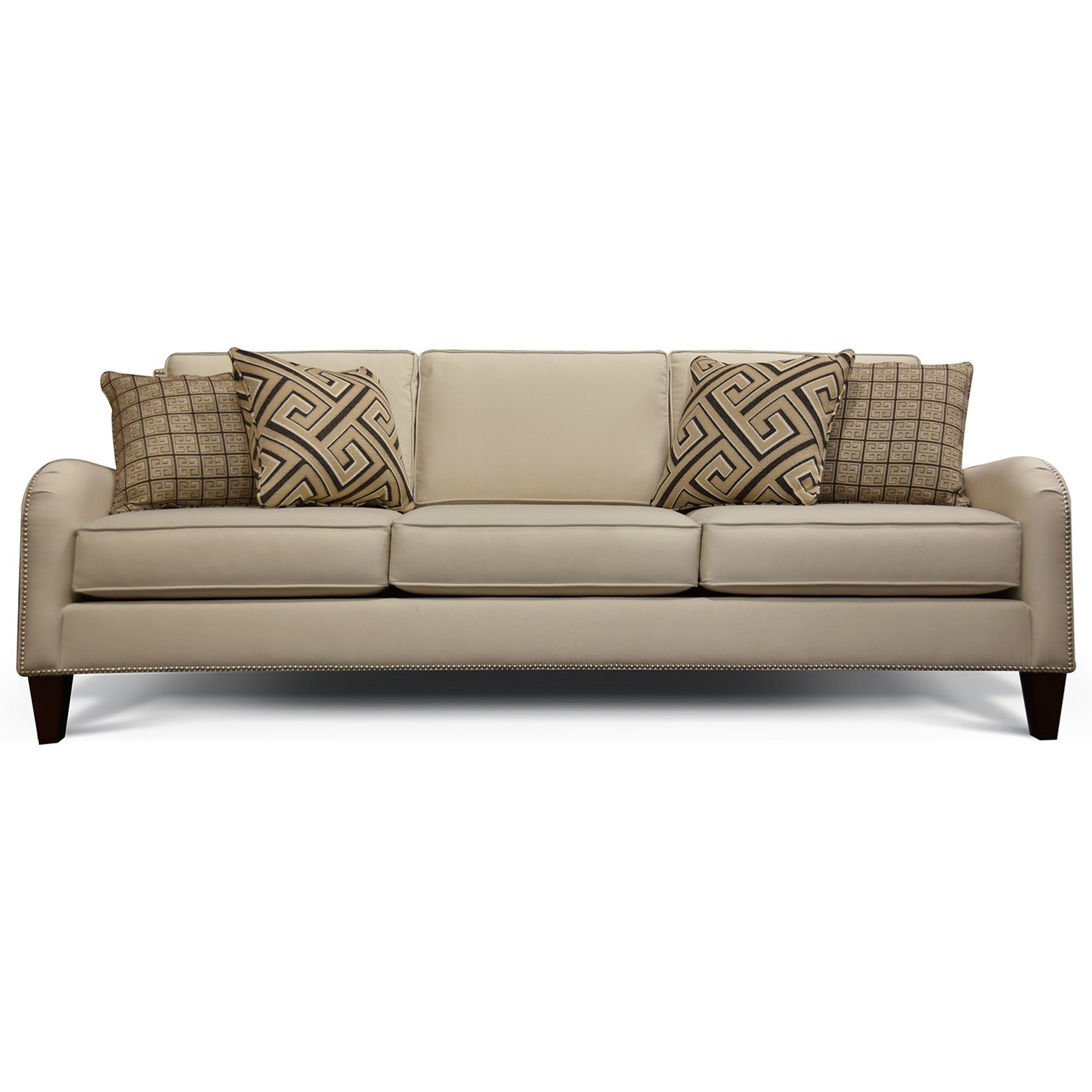 England Preston Sofa With Nailhead Trim And Waterfall Arms