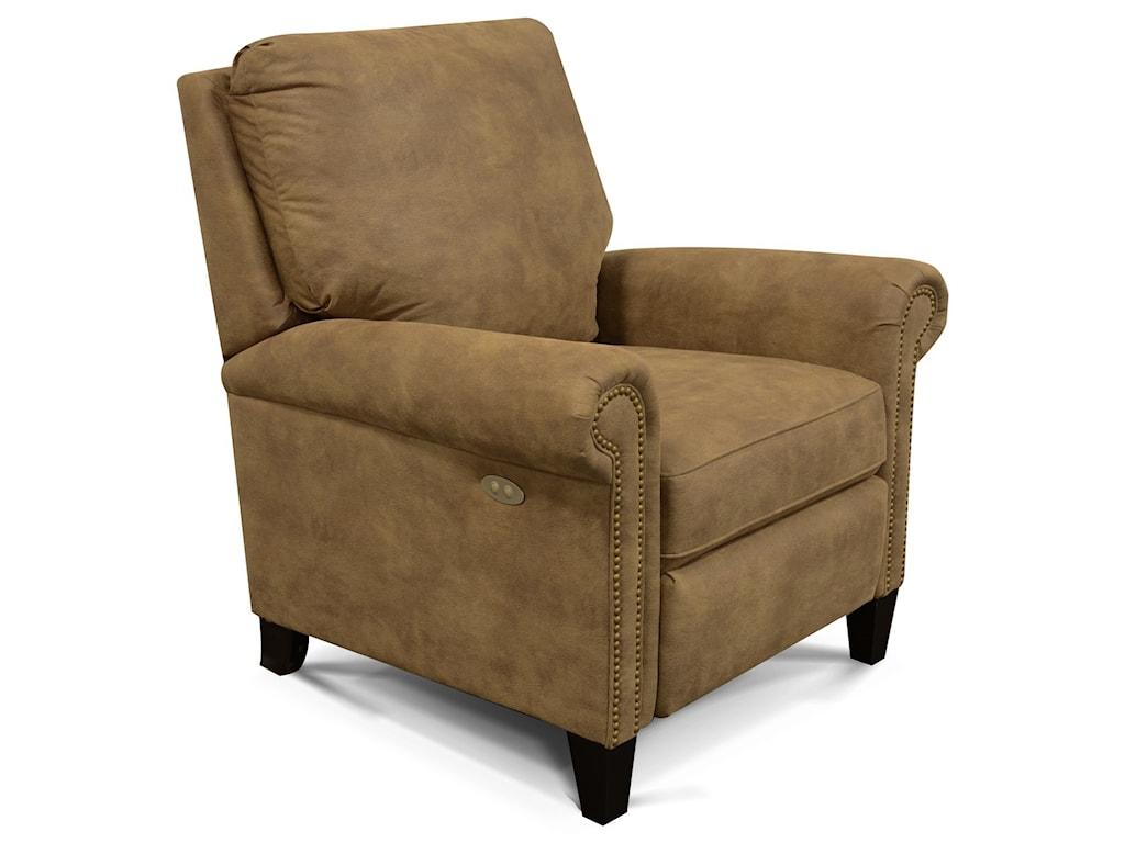 England PriceHigh-Leg Reclining Chair with Nailheads