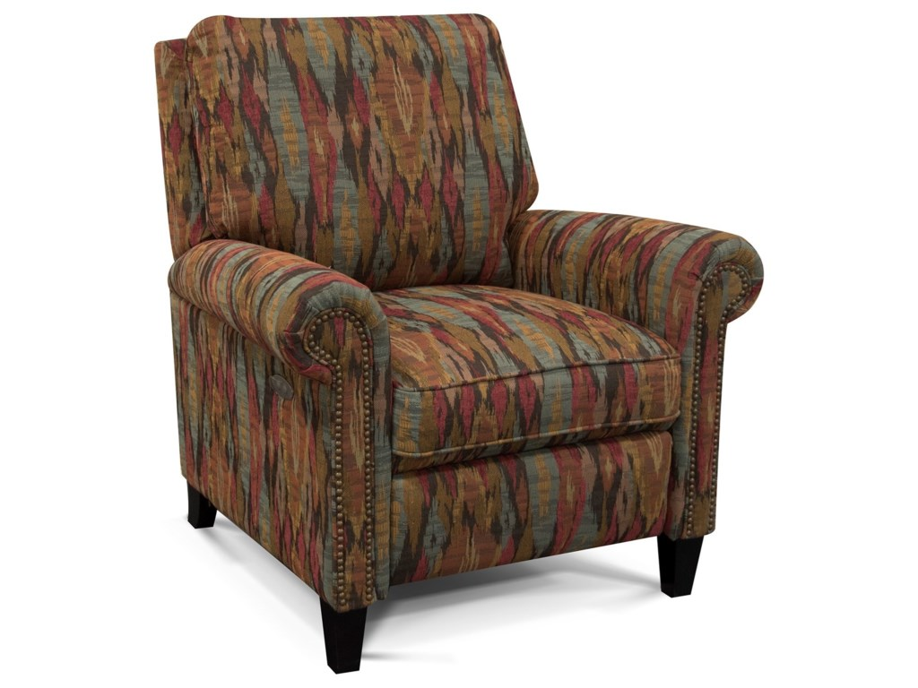 England PriceHigh-Leg Reclining Chair with Nailheads