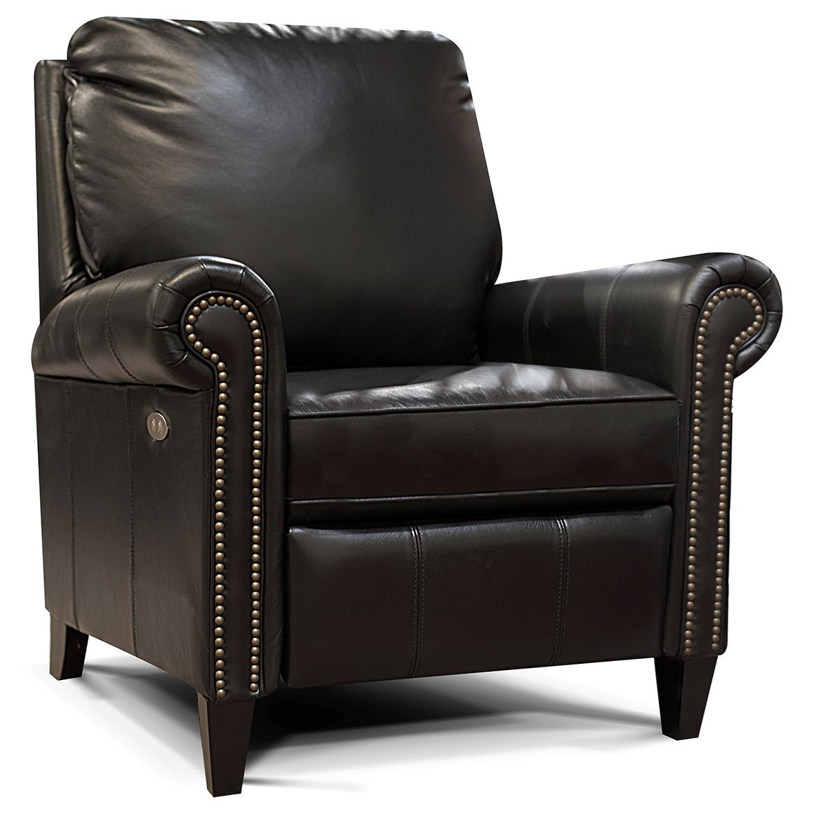 Rhys Leather High Leg Reclining Chair With Nailheads By England