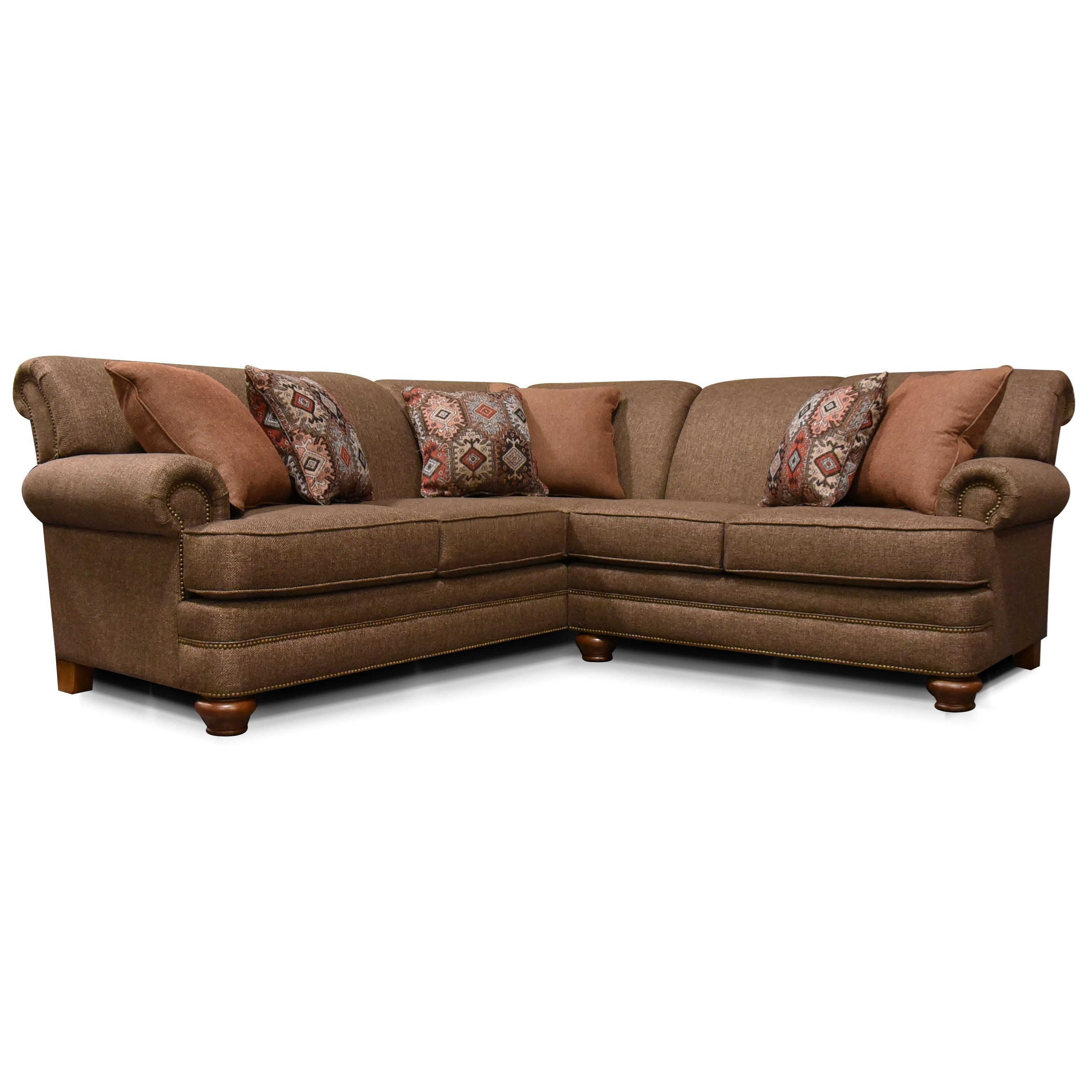 England Reed2 Piece Sectional With Nailhead Trim ...