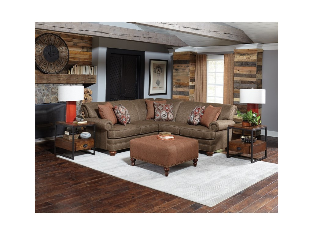 England Reed2-Piece Sectional with Nailhead Trim