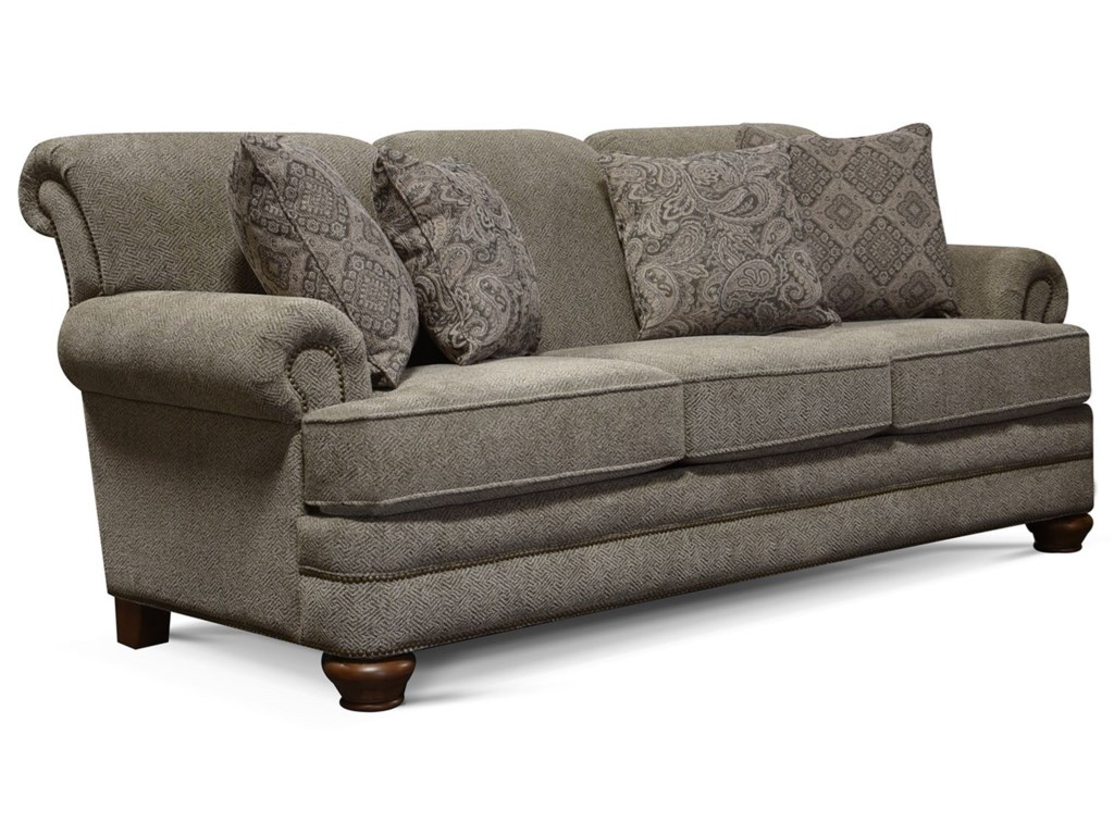 Reed Traditional Sofa With Nailhead Trim By England At Furniture And Liancemart