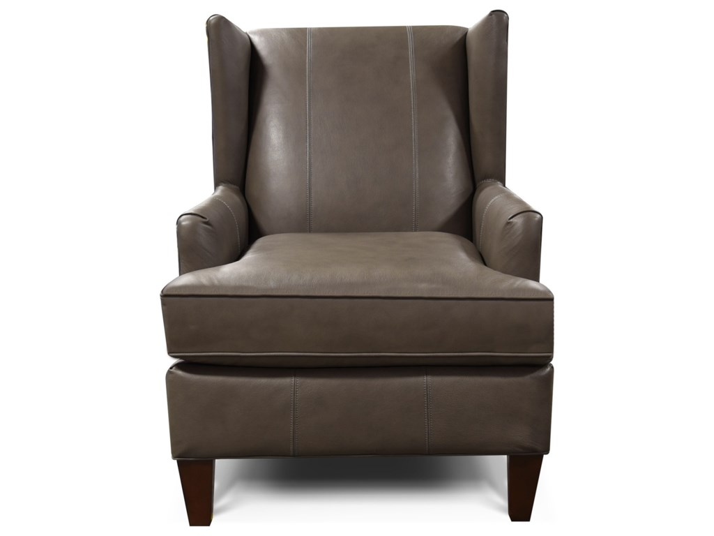 England OliveUpholstered Wing Chair