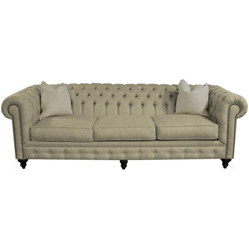 England Rondell Traditional Sofa with Tufted Back and Arms
