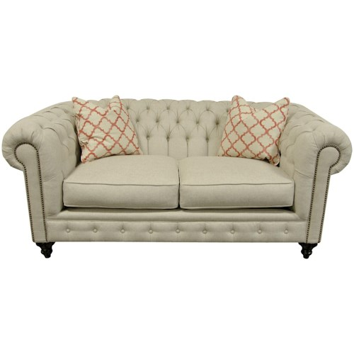 England Rondell Loveseat with Chesterfield Style