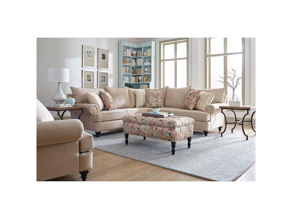 England RosalieStationary Living Room Group
