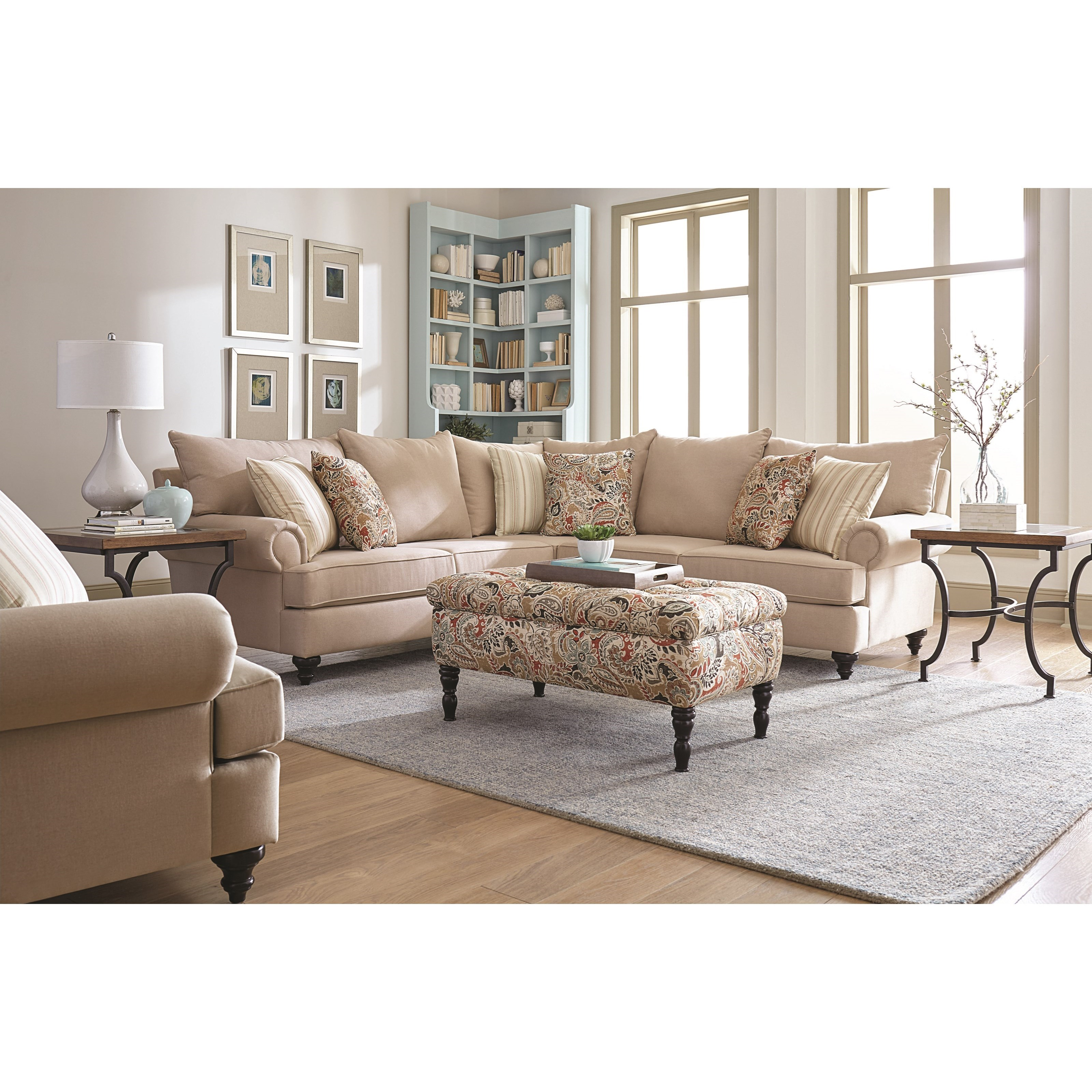 Ottoman Available Separately; England RosalieSectional Sofa