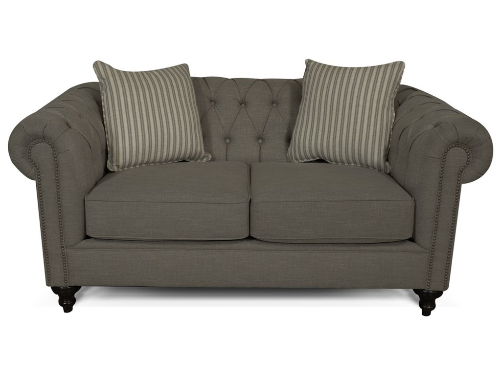 England Ruby 4H00Loveseat with Button Tufted Back