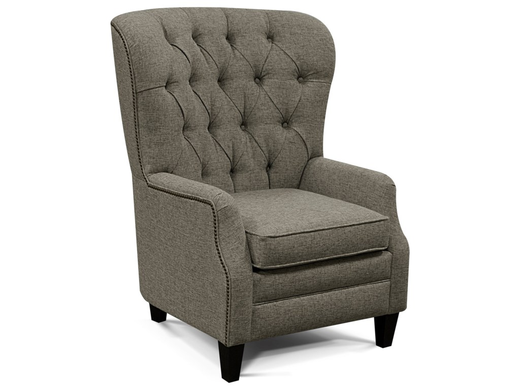 England RykerTufted-Back Den Room Chair