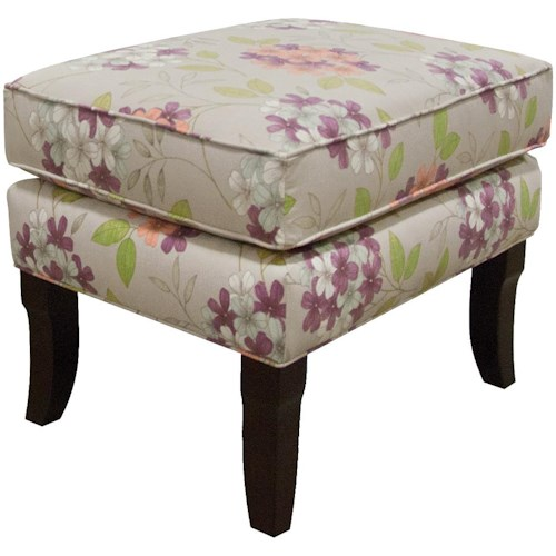England Scarlet  Contemporary Living Room Ottoman for Chair