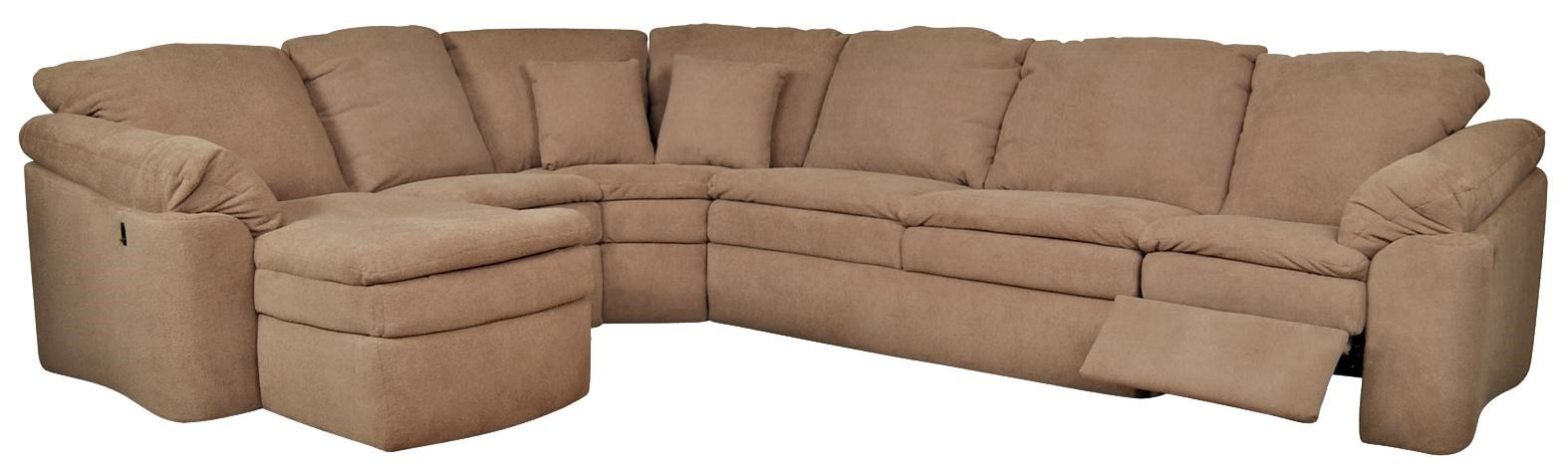 England Seneca Falls Six Seat Sectional Sofa With Attached Chaise Component Howell Furniture Reclining Sectional Sofas