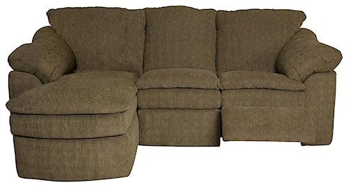 England Seneca Falls Small and Compact Three Piece Reclining Sectional Sofa