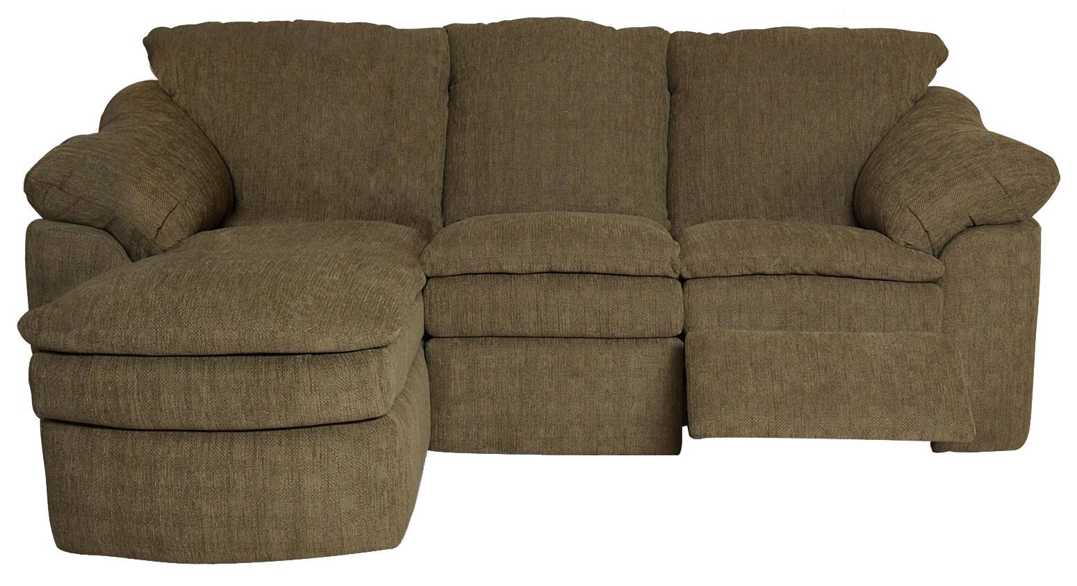 England Seneca Falls Small And Compact Three Piece Reclining Sectional Sofa