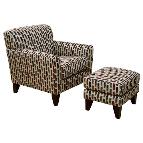 England Shockley Chair and Ottoman