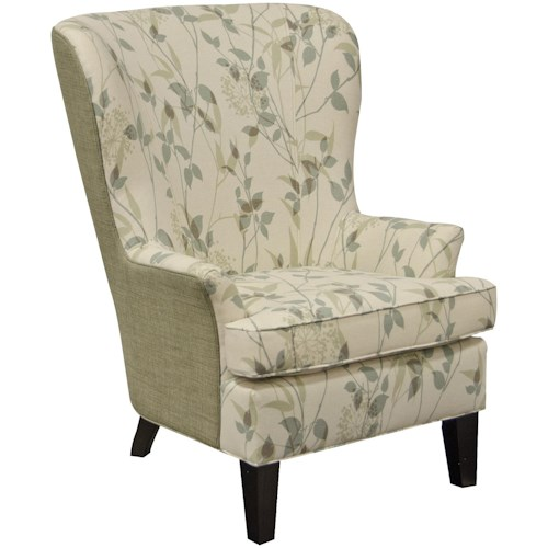 England Smith Living Room Arm Chair with Wing Style