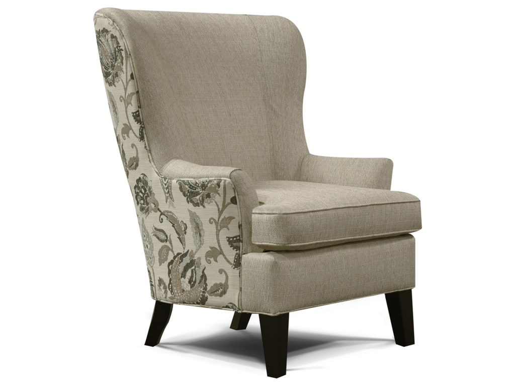England Smith Living Room Arm Chair with Wing Style ...