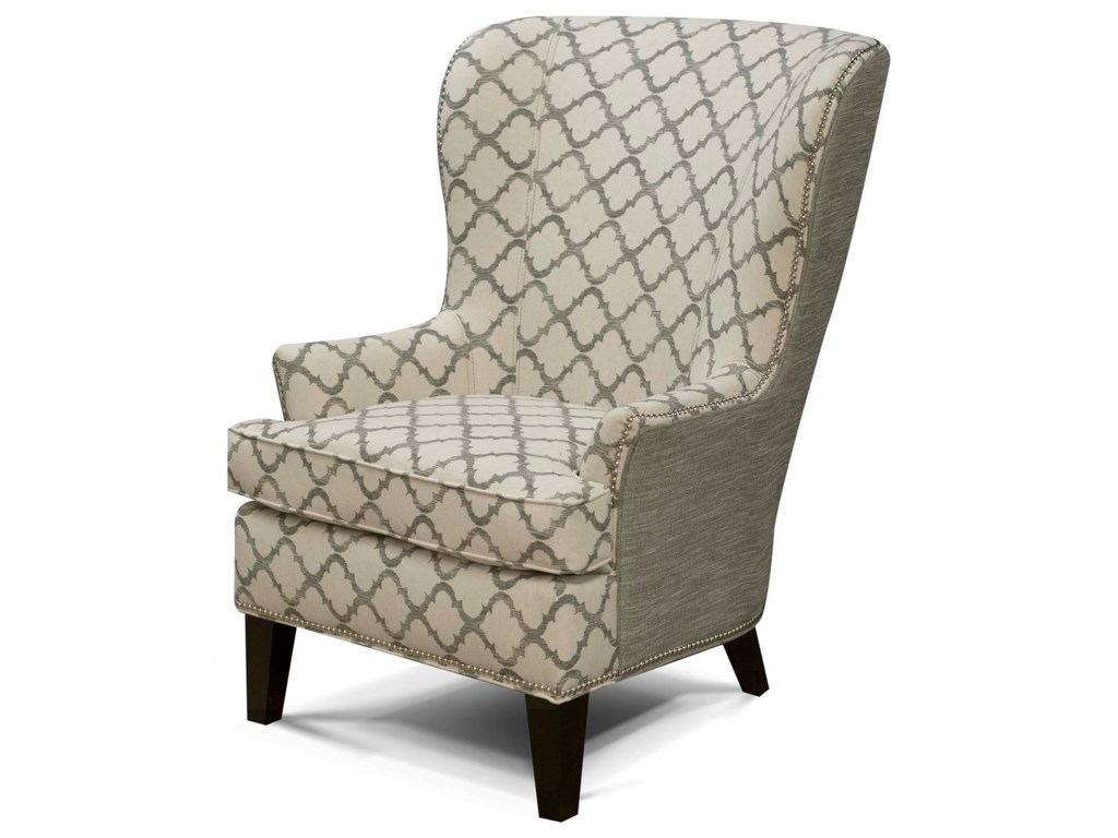 England Smith 4544N Living Room Arm Chair with Wing Style with ...