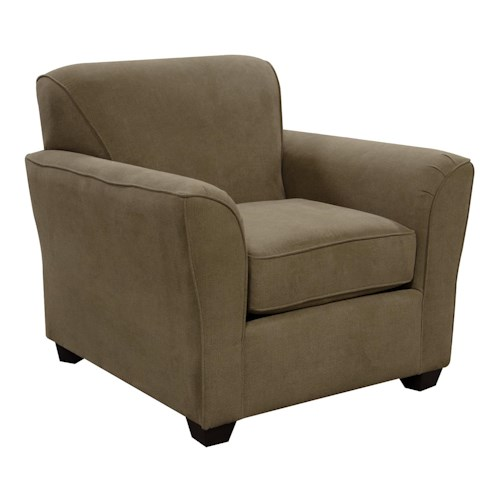 England Smyrna Chair with Casual Contemporary Style