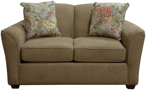 England Smyrna Loveseat with Casual Contemporary Style